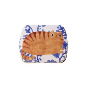 Planet Cat mini blikken doos blauw