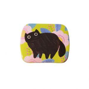 Planet Cat mini blikken doos groen