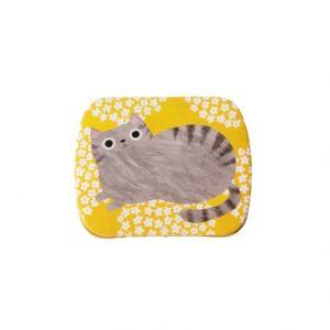 Planet Cat mini blikken doos geel