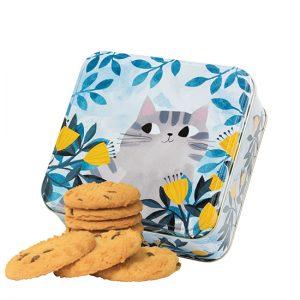 Planet Cat middelgrote blikken koekendoos