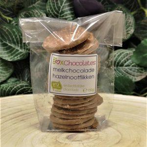 Melkchocolade hazelnootflikken 150g