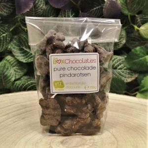 Pure chocolade pindarotsen 150g