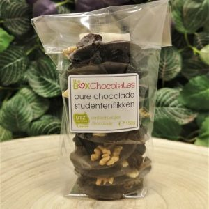Pure chocolade studentenflikken 150g
