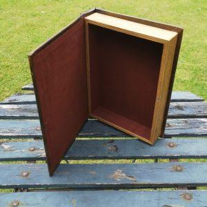 Opbergboek boekendoos Boeddha medium achterkant