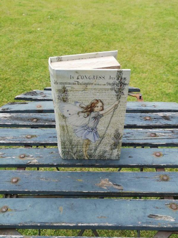 Opbergboek boekendoos Flower Fairy lavendel small voorkant